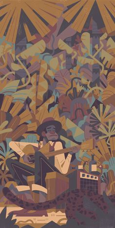 Jungle Blues on Behance People Illustration, City Illustration, Illustrations, Illustration Styles, Colouring Techniques, Freelance Illustrator, Character Design Inspiration, Color Pallets, Skull Art