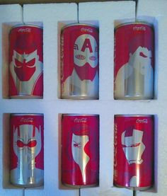 Coca Cola Marvel Mini Coke Cans 6 Pack Complete Set Coke Avengers First Edition #CocaCola