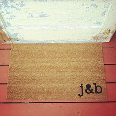 YOUR Custom Initials - Where You Hang Your Hat Doormat - Natural CoCo Fiber Modern Tagged Outdoor 60% Recycled Welcome Mat via Etsy