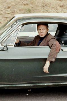 Steve McQueen Filming Bullitt