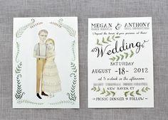 A recent wedding invite, designed by Julianna Swaney