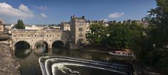 Pulteney bridge in Bath, view from south befor...