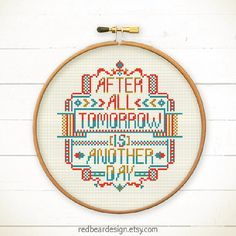 Funny Quote Cross stitch pattern PDF After All. by redbeardesign
