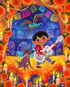 "Joey Chou shared a photo on Instagram: ""Here's my #pixar #coco piece for @waltdisneyworld #epcot #festivalofthearts #2020. I'll be there…"" • See 542 photos and videos on their profile."