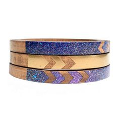 Bat For Lashes Skinny Bangle Set, 23€, now featured on Fab.