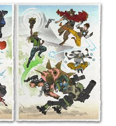 'Fallen Blossoms, New Life' Giclee Print - Ukiyo-e Heroes Japanese Drawings, Japanese Art, Old Men With Tattoos, Graffiti, Samurai Artwork, Overwatch Comic, Modern Asian, Japanese Games, Video Game Art