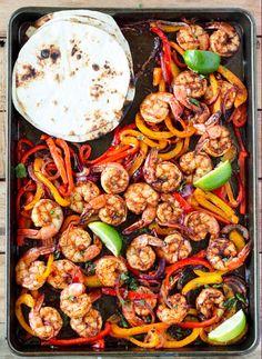 One Sheet Pan Shrimp Fajitas – Helprecipes