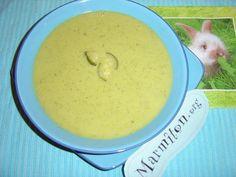 Soupe de courgettes à la vache qui rit - Recette de cuisine Marmiton : une recette
