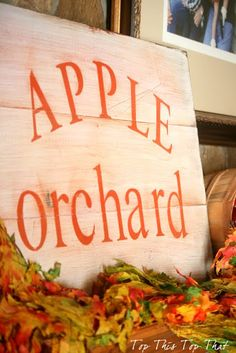 apple orchard sign