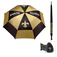 New Orleans Saints 62'' Double Canopy Umbrella