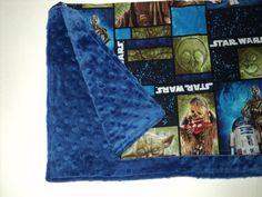 "Star-Wars Baby Blanket - Security Blanket - 19"" X 23"" Minky Lovey - Baby Shower - Star Wars Blanket - Travel Blanket. on Etsy, $20.57"