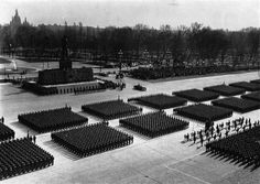 Parade in Stalin Square, People's Republic of Hungary.
