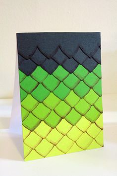 Dragon scales card for those How to train your dragon lovers
