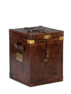 Leather Trunk End Table by Sarreid at Gilt