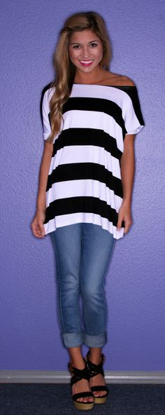 Big Black Stripe Piko - $28.00