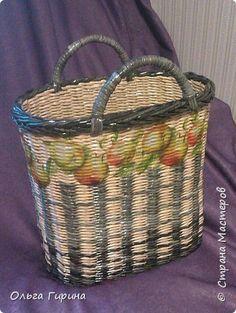 Поделка изделие Плетение опять плетенки Трубочки бумажные фото 1