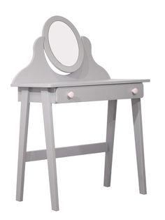 Pour une chambre de fille, la coiffeuse enfant 1 tiroir + 1 miroir POLLY sera votre coup de coeur - BUT