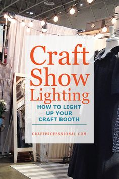 Portable craft show lights for your handmade display. Here's how to light up your craft booth with inspirational photos, and affordable lighting sources. Vendor Displays, Craft Booth Displays, Vendor Booth, Display Ideas, Booth Ideas, Jewelry Displays, Hanging Jewelry, Yarn Display, Soap Display