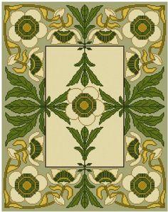 Passion Flower cross stitch pattern set PDF Botanical by Whoopicat