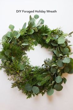 DIY Foraged Holiday Wreath