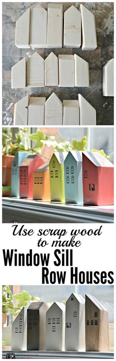 Scrap Wood Decor Mini Houses is part of Wood crafts Toys - Use up leftover bits and bobs of scrap wood with this easy DIY scrap wood decor project scrap wood houses, wood houses, mini houses Kids Woodworking Projects, Woodworking Toys, Woodworking Techniques, Custom Woodworking, Scrap Wood Crafts, Scrap Wood Projects, Wooden Crafts, Art Projects, Diy Crafts
