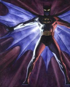 Batman by Steve Rude Space Ghost, Dc Comics, In The Pale Moonlight, Batman Beyond, Batman Family, Batman Art, Geek Art, Gotham City, Comic Artist