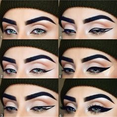 Gorgeous Makeup: Tips and Tricks With Eye Makeup and Eyeshadow – Makeup Design Ideas Cat Eye Makeup Tutorial, Eyeliner Tutorial, Eye Makeup Tips, Eyeshadow Makeup, Glitter Eyeshadow, Eyeshadow Palette, Makeup Ideas, Makeup Tricks, Makeup Tutorials