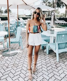 College Outfits – Page 9572231532 – Lady Dress Designs Cute Summer Outfits, Spring Outfits, Spring Clothes, Casual Summer, Casual Chic, Chic Outfits, Fashion Outfits, Women's Fashion, Crop Top Outfits