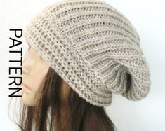 Knit hat pattern Digital Hat Knitting PATTERN French by Ebruk