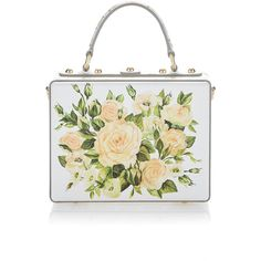 7367ef421ca1 Dolce   Gabbana Pastel Rose Box Bag found on Polyvore featuring bags