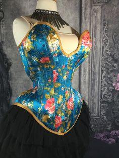 8264609d1c New MCC-30 floral satin overbust tightlacing waisttraining corset MystiC  City Corsets