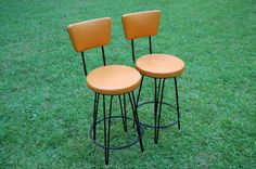 Pair Vintage Bar stools Mid Century Modern by PickersWarehouse, $195.00