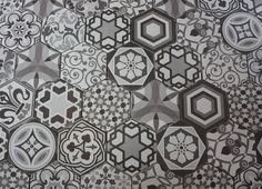 HEXATILE HARMONY BLACK AND WHITE   Saltillo Imports Inc. Toronto 115 Tycos Dr Toronto, ON M6B 1W3