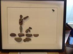 Pebble art. Game keeper Pebble Art, Game, Venison, Gaming, Toy, Stone Art, Games