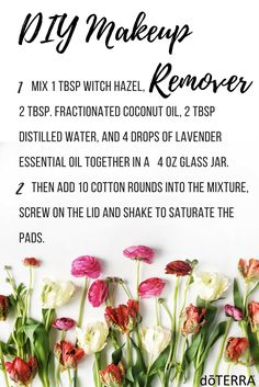 Take care of  your skin with this gentle DIY Makeup Remover!