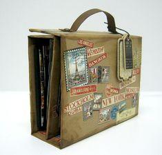 Einat Kessler Graphic 45 Audition suitcase mini album with video