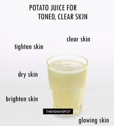 AMAZING BENEFITS OF POTATO JUICE FOR TONED, CLEAR SKIN