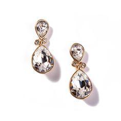 Kolczyki Crystal pozłacane 24-karatowym złotem i ozdabiane kamieniami Swarovski Crystals.