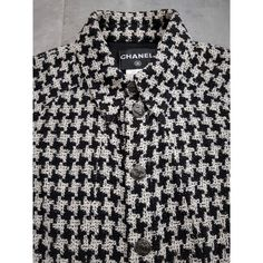 chanel black and white coat - Google Search Black And White Coat, Chanel Black, Tweed, Shirt Dress, Google Search, Mens Tops, Bags, Shirts, Beautiful
