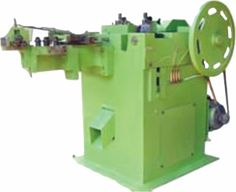 This equipment covers one main crank and two side shafts. Due to the special bearing design, it is smoother in operation as compared to the traditional Nail Making Machine. The main axle is directly driven by the motor. In addition, the two side shafts separately used to control the nail cutter part and nail mold part are pulled via four bevel gears.