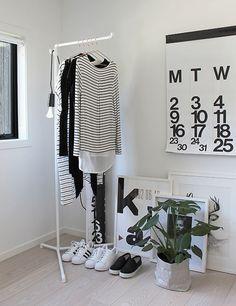 Original wardrobe black and white
