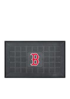 Fanmats  Mlb Boston Red Sox Medallion Door Mat - Black