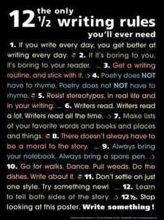 The only 12-1/2 writing rules you'll ever need