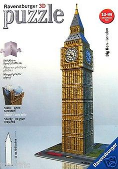 Big ben #clock #tower westminster 3d #puzzle by ravensburger - brand new &…