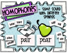 SO many neat resources and activities to teach homophones and homographs!
