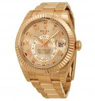 Rolex Sky Dweller Sundust Dial 18kt Everose Gold Men's Watch 326935