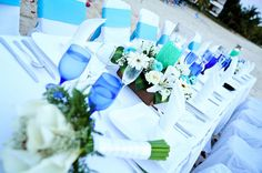 Long tables on the beach are a great way to have an intimate reception at Sunscape Sabor Cozumel.