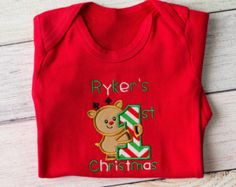 Baby Girl Christmas Outfits, Personalized Baby's First Christmas Outfit, Newborn Christmas Outfit Boys Christmas Outfit 1st Christmas Outfit