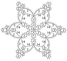 Tatted Ice Snowflake | Be-stitched