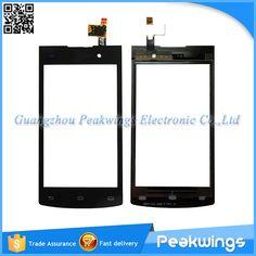 Voor philips s308 touchscreen met digitizer panel sensor glas met logo schip met track